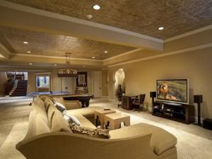luxury basement ceiling