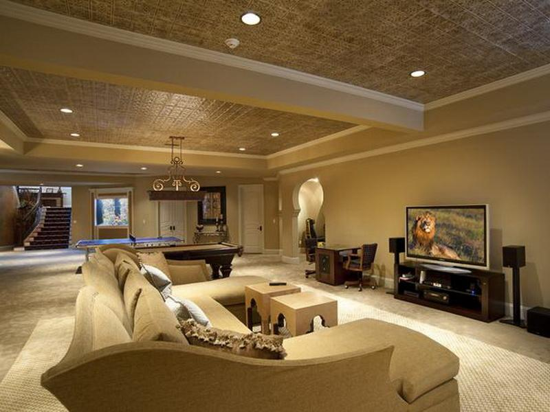 Luxury Basement Ceiling Home Interior And Furniture Ideas