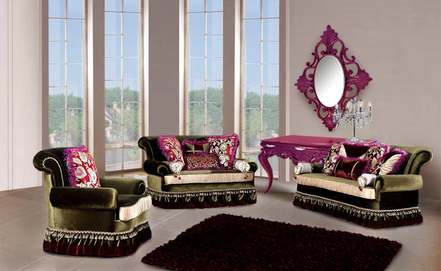 Luxury living room furniture home interior and furniture for Luxury living room sofa