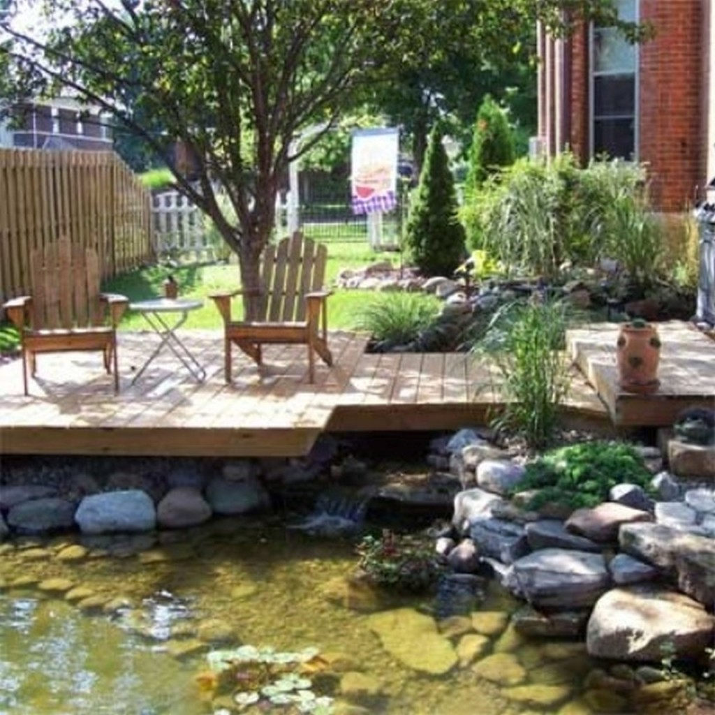 Mobile home garden ideas home interior and furniture ideas for Deck pond ideas