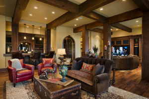 rustic family room ideas