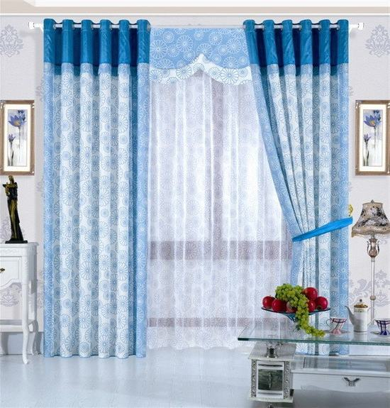 Blue Living Room Curtains