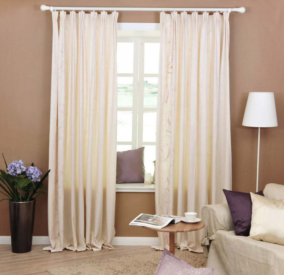 Curtain design for living room home interior and for Curtains in a living room