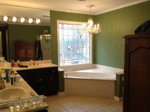 green paint colors for bathrooms