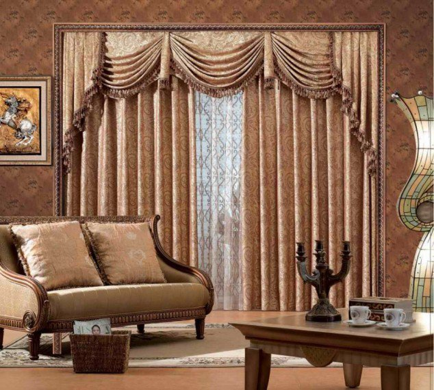 Living Room Curtain Designs Home Interior And Furniture Ideas