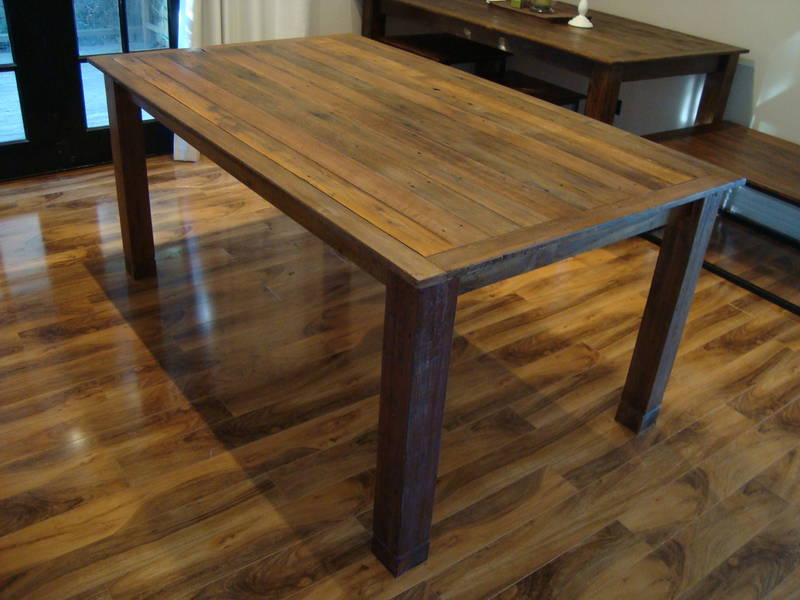 Simple wooden rustic living room coffee table