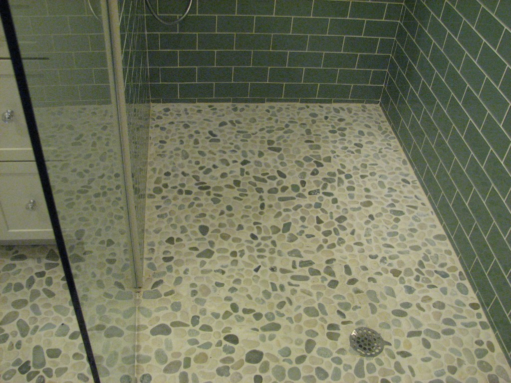 shower floor tile ideas