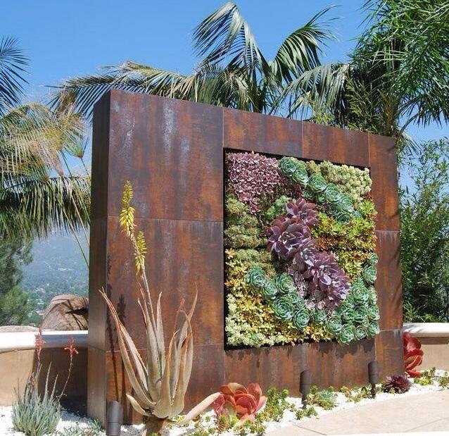vertical succulent garden