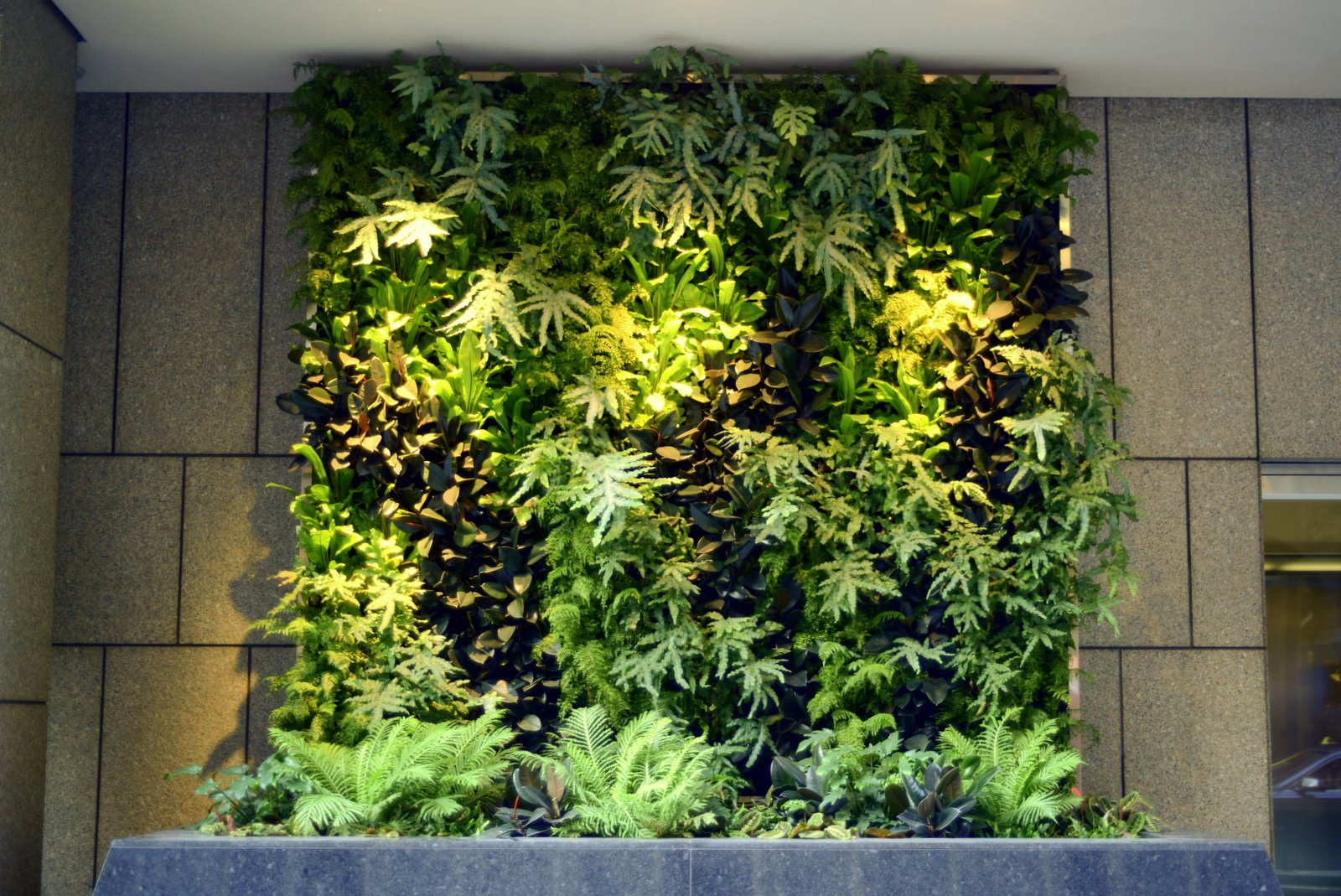 Vertical Wall Garden Home Interior And Furniture Ideas