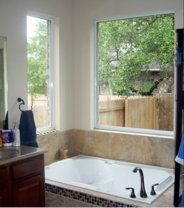 bathroom with window design