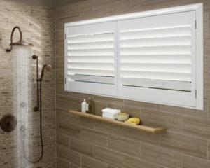 bathroom with window height