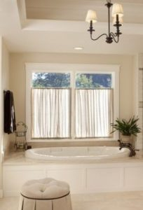 bathroom with window planning