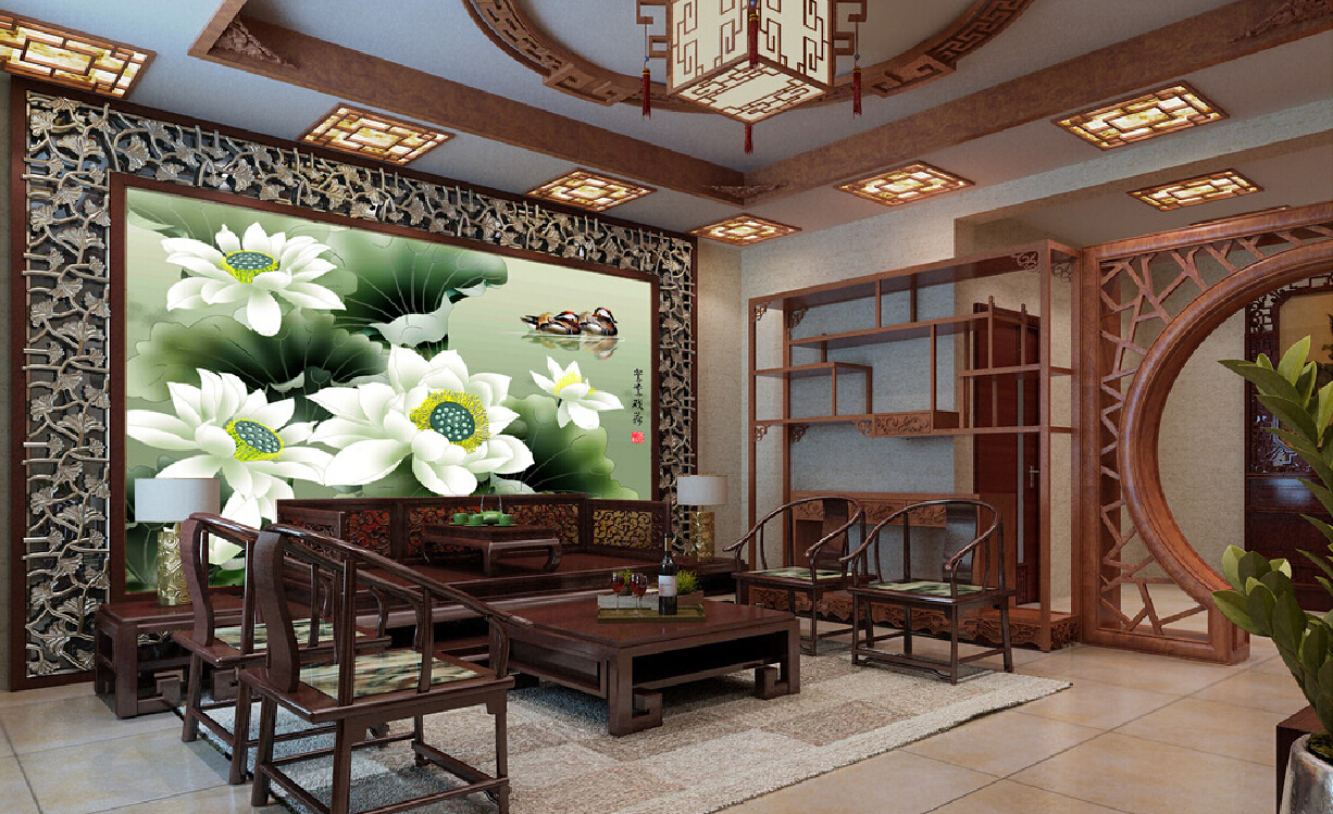 Asian style interior design for Chinese house design