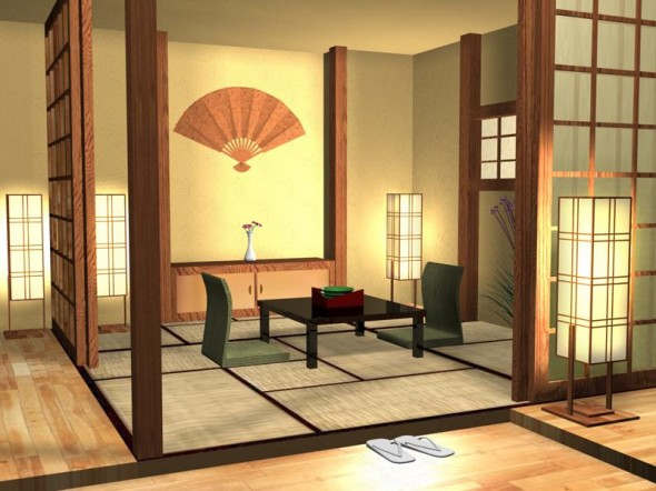 Japanese style in interior design home interior and for Japanese home decorations