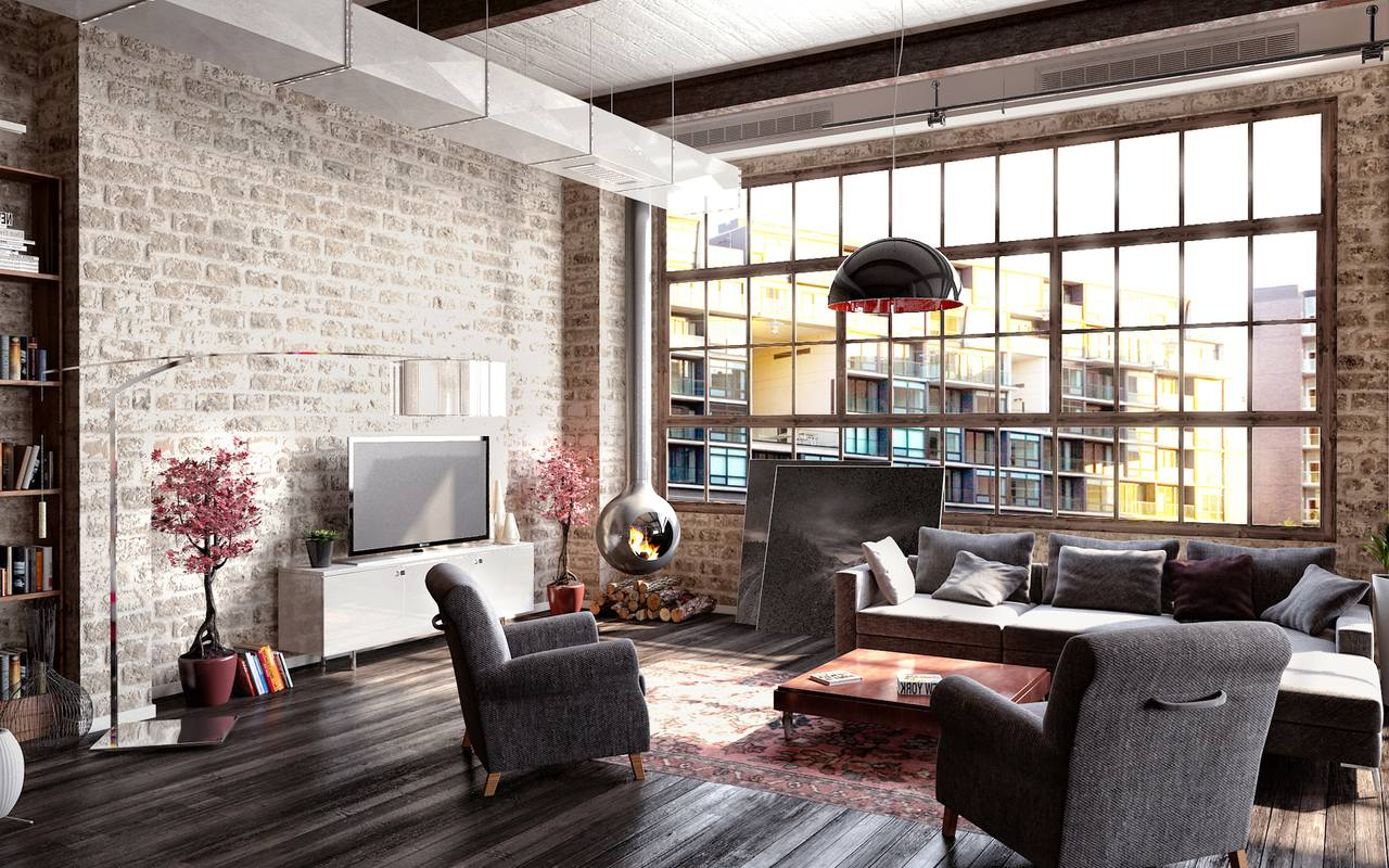 Style Loft In The Interior Home And Furniture Ideas