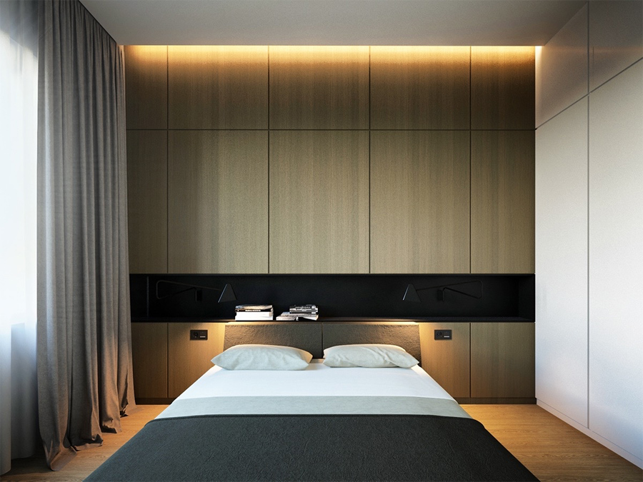 Minimalist bedroom lighting