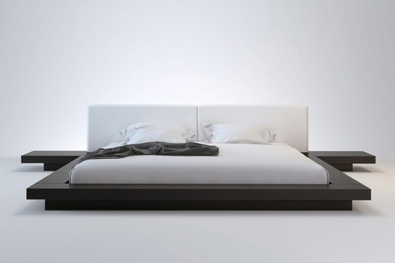 Minimalist designer bed