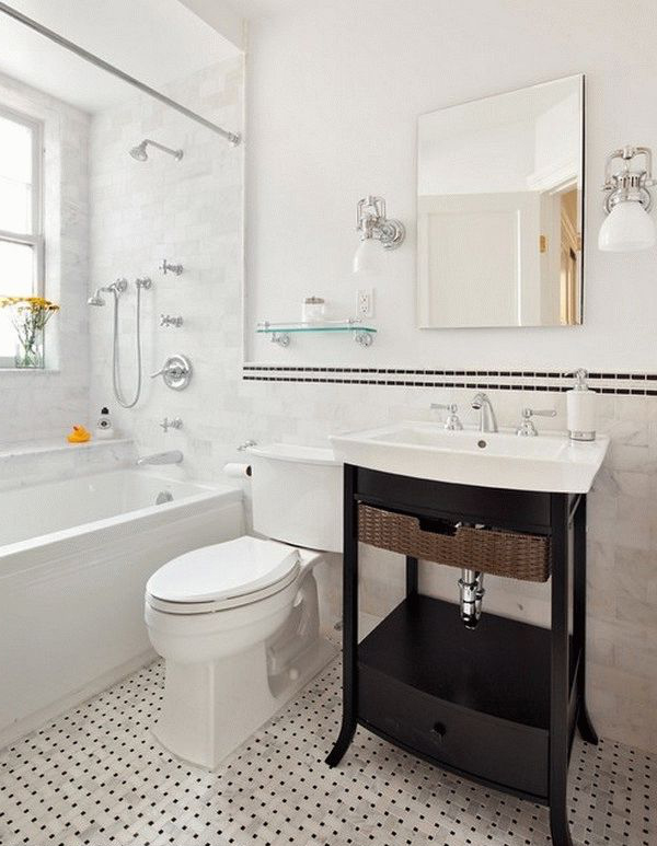 white tones bathroom