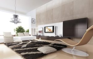 stylish rug in the living room