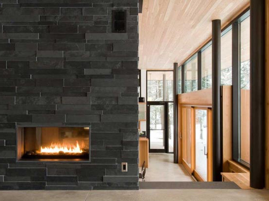 fireplace in the country house